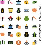 vector icon set   house hold... | Shutterstock .eps vector #1263267610