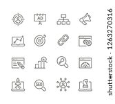 seo related icons  thin vector... | Shutterstock .eps vector #1263270316