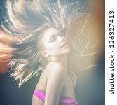 young sensual model girl.... | Shutterstock . vector #126327413
