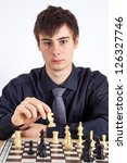 young business man playing chess | Shutterstock . vector #126327746