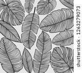 seamless pattern with palm... | Shutterstock .eps vector #1263279073