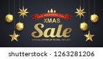 christmas sale banner design... | Shutterstock .eps vector #1263281206