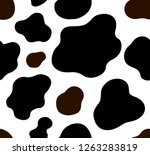 cow texture pattern repeated... | Shutterstock .eps vector #1263283819