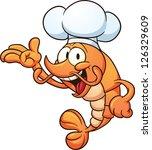 cartoon chef shrimp. vector... | Shutterstock .eps vector #126329609