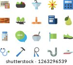 color flat icon set brick wall... | Shutterstock .eps vector #1263296539