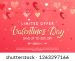 valentines day special offer... | Shutterstock .eps vector #1263297166