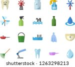 color flat icon set sink flat...   Shutterstock .eps vector #1263298213