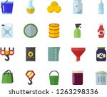 color flat icon set hook flat... | Shutterstock .eps vector #1263298336