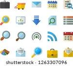 color flat icon set color...   Shutterstock .eps vector #1263307096