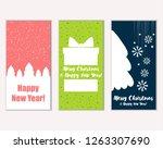 vector illustration of merry... | Shutterstock .eps vector #1263307690