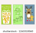 merry christmas and happy new... | Shutterstock .eps vector #1263310060