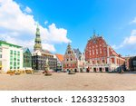 view of the old town square ... | Shutterstock . vector #1263325303