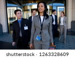 group of business people at... | Shutterstock . vector #1263328609