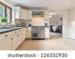 Stock photo modern kitchen 126332930