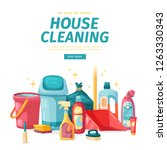 design banner house cleaning... | Shutterstock .eps vector #1263330343