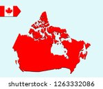 canada map with national flag | Shutterstock .eps vector #1263332086