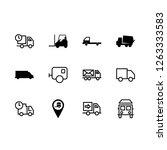 vector set. with truck ...   Shutterstock .eps vector #1263333583