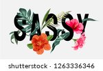 sassy slogan with tropical... | Shutterstock .eps vector #1263336346