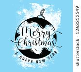 merry christmas. typography.... | Shutterstock .eps vector #1263352549