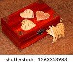 handmade mahogany jewelry box | Shutterstock . vector #1263353983