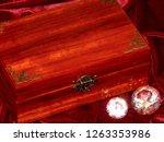 handmade mahogany jewelry box | Shutterstock . vector #1263353986