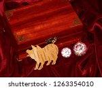 handmade mahogany jewelry box | Shutterstock . vector #1263354010