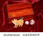 handmade mahogany jewelry box | Shutterstock . vector #1263354019