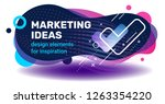 vector creative marketing... | Shutterstock .eps vector #1263354220