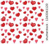 seamless watercolor valentines... | Shutterstock . vector #1263361120
