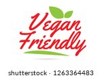 vegan friendly hand written...   Shutterstock .eps vector #1263364483