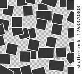 black and white photo frame...   Shutterstock .eps vector #1263370303