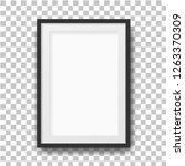 realistic black photo frame....   Shutterstock .eps vector #1263370309