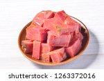 spiced halogen beef   Shutterstock . vector #1263372016