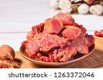 spiced halogen beef   Shutterstock . vector #1263372046