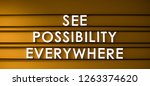 see possibility everywhere   Shutterstock . vector #1263374620