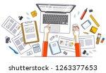 business analysis  office... | Shutterstock .eps vector #1263377653
