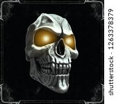Skull With Glowing Yellow Eyes...