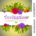 invitation event card with... | Shutterstock .eps vector #1263380029