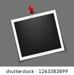 square realistic frame template ... | Shutterstock .eps vector #1263383899