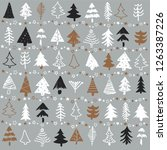 seamless pattern with christmas ... | Shutterstock .eps vector #1263387226
