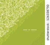 green lace leaves corner...   Shutterstock .eps vector #126338750