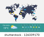 weather forecast | Shutterstock . vector #126339170