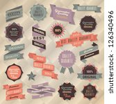 retro label collection | Shutterstock .eps vector #126340496