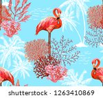 beautiful seamless vector... | Shutterstock .eps vector #1263410869