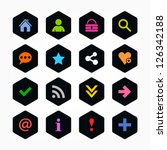 basic sign icon set. color on...