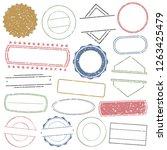 empty stamp. frames. grunge... | Shutterstock .eps vector #1263425479