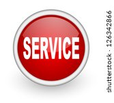 service red circle web icon on... | Shutterstock . vector #126342866