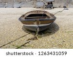 wooden fishing boat is drying... | Shutterstock . vector #1263431059
