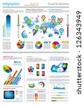 infographic elements   set of... | Shutterstock .eps vector #126343949