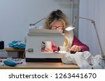 female tailor at work in the... | Shutterstock . vector #1263441670